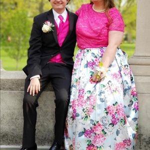 Dillard's Plus Size Floral Prom Dress